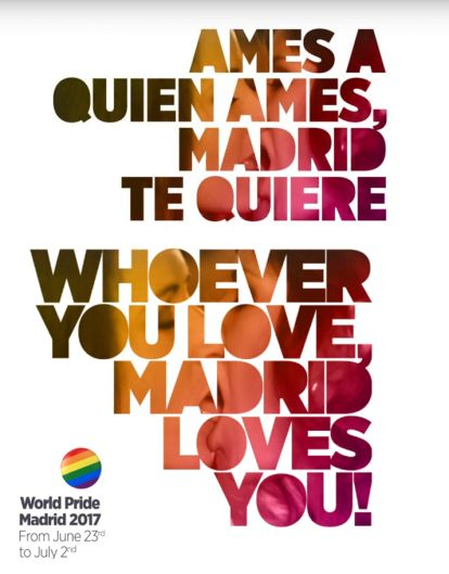 World Pride Madrid 2017 lema