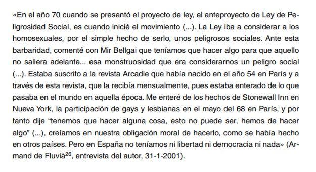 Ley sobre Peligrosidad y Rehabilitación Social, germen Orgullo de Las Ramblas