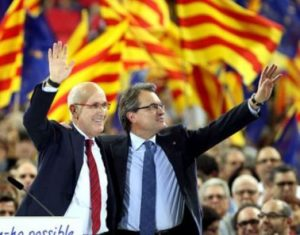 Elecciones catalanas 2012 Mas y Lleia