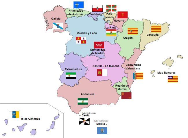 Mapa de la España autonómica
