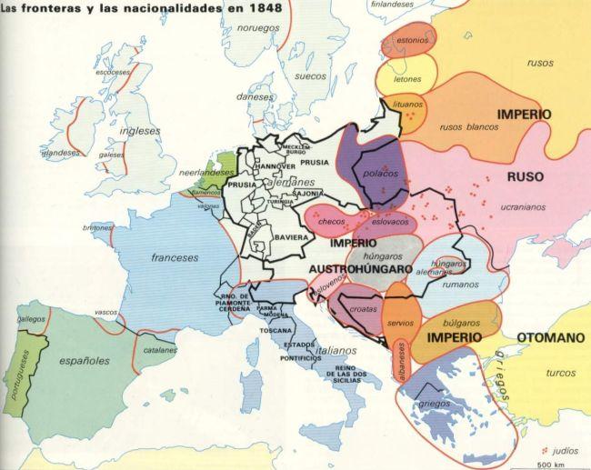 Nacionalismo y Europa en 1848