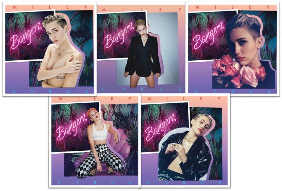 Portadas de Bangerz de Miley Cyrus