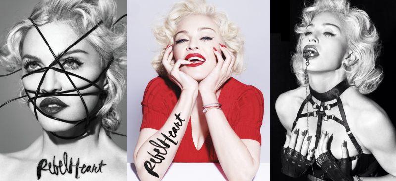 Rebel Heart de Madonna, crítica y portadas