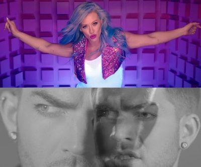 Hilary Duff y Adam Lambert en 2016