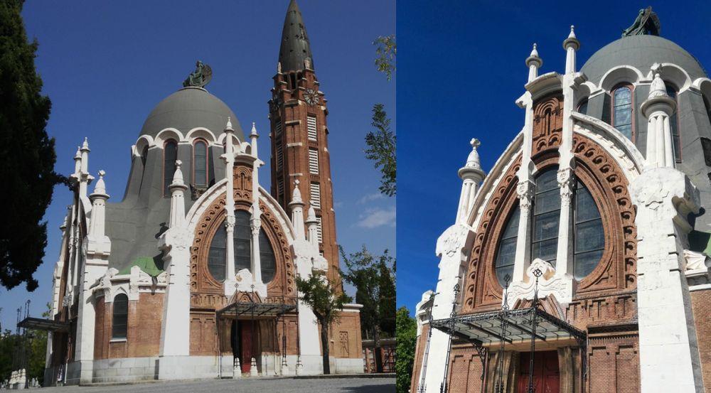 Vista lateral de la capilla de La Almudena