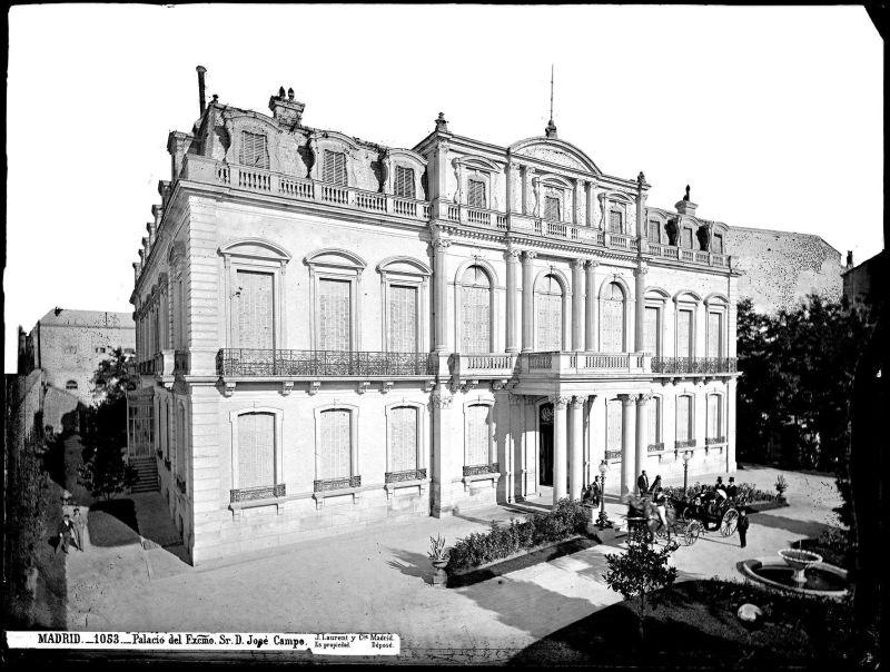 Desaparecido Palacio de don José Campo en Madrid