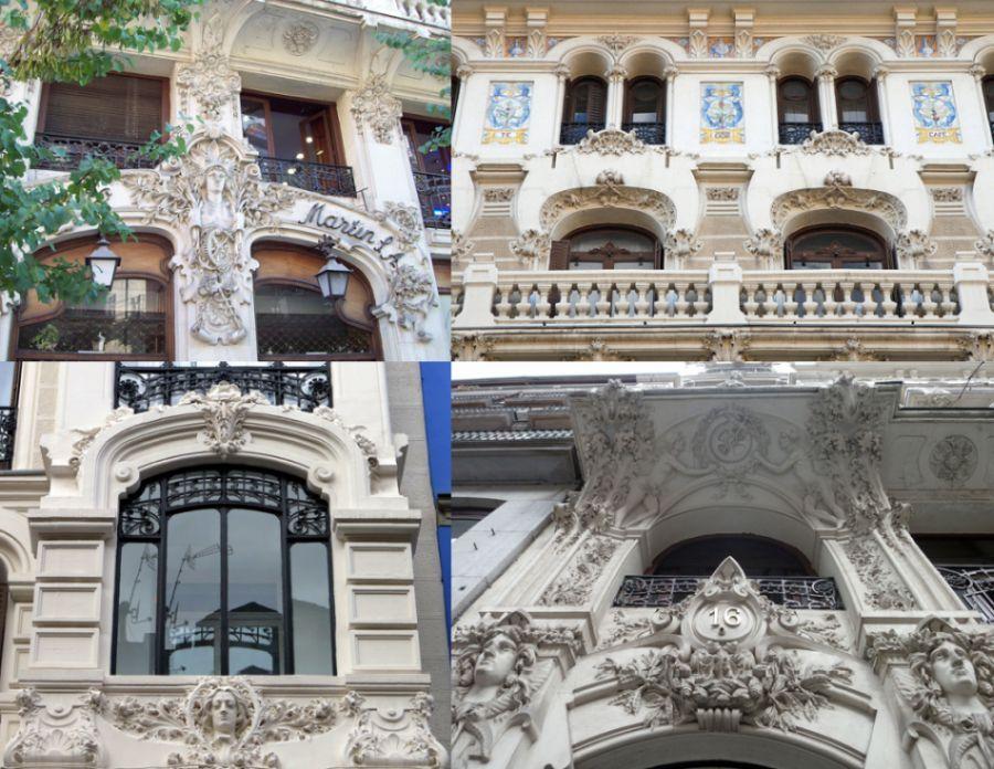 Detalles arquitectónicos en el edificio de la Compañía Colonial