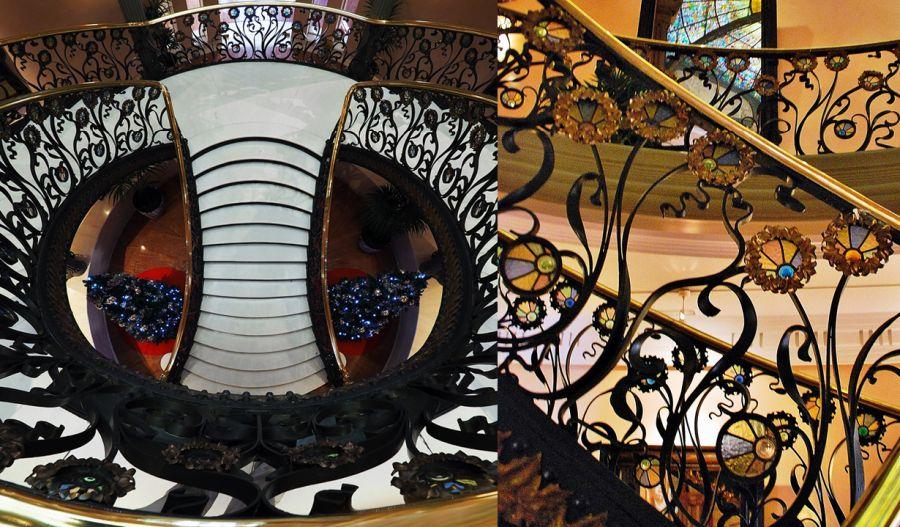 Escalera del Palacio Longoria de Madrid