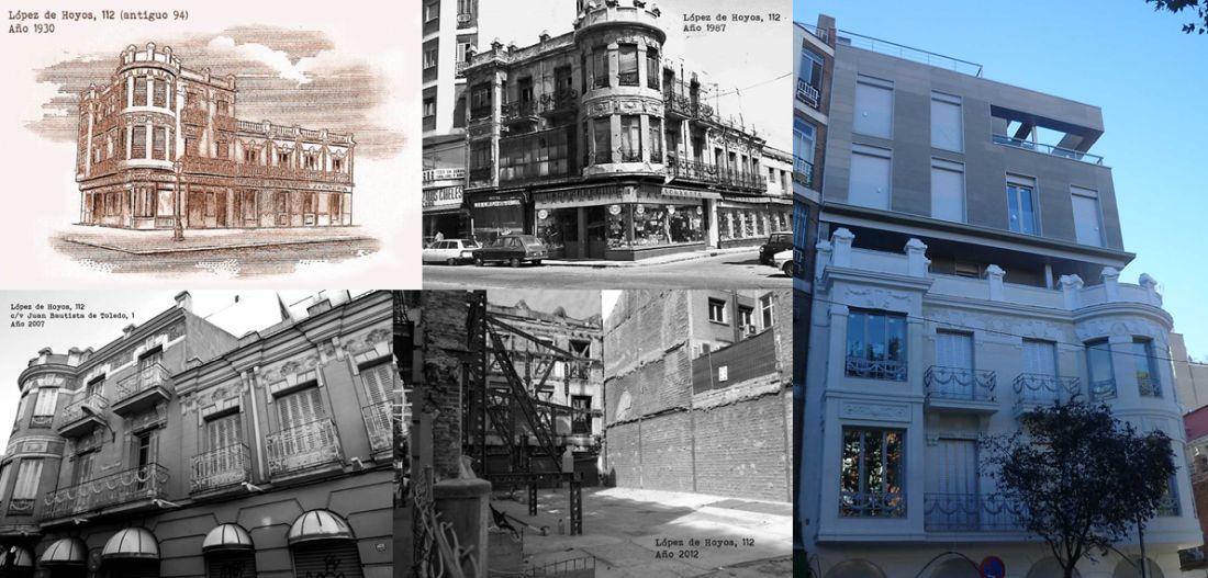 Evolución y ampliación del edificio en López de Hoyos 112