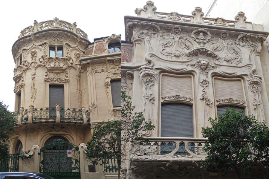 Fachada a Fernando VI del Palacio de Longoria