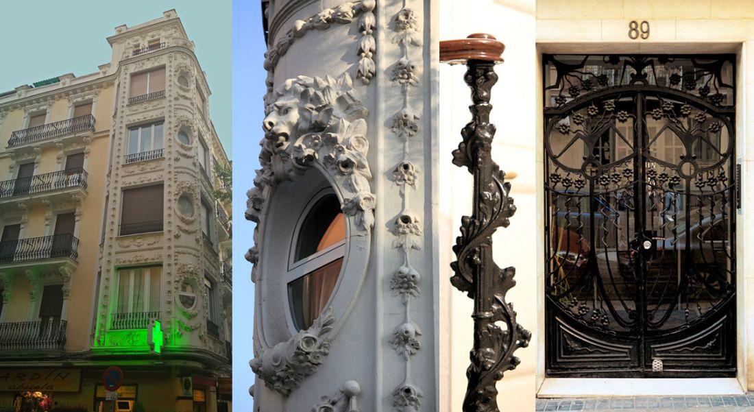 Viviendas para Francisco Puente (calle Martín de los Heros. 89), Modernismo afrancesado y neobarroco