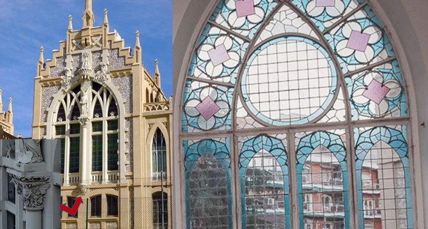 Madrid modernista, las vidrieras y motivos vegetales de la capilla del colegio del Pilar