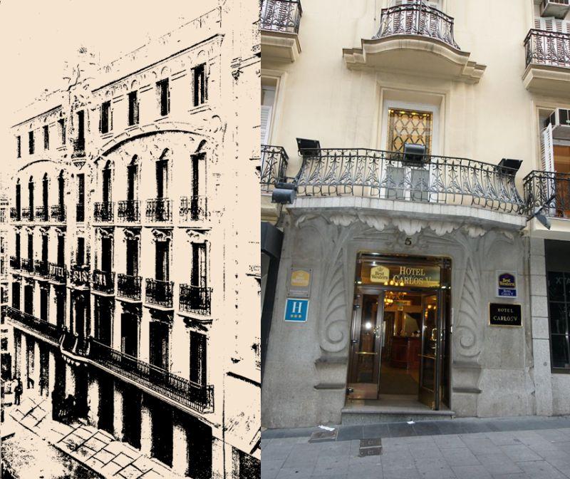 Casa de la Marquesa de Villamejor (actual Hotel Carlos V en la calle Maestro Victoria, 5)