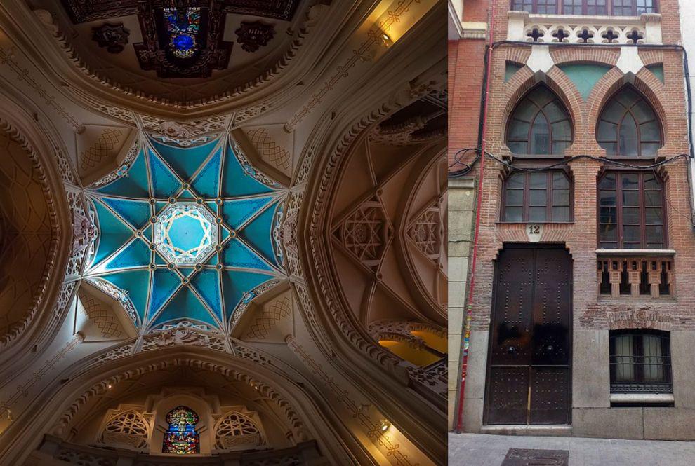 El espectacular interior de la Iglesia de la Buena Dicha y su fachada a calle Libreros, 12