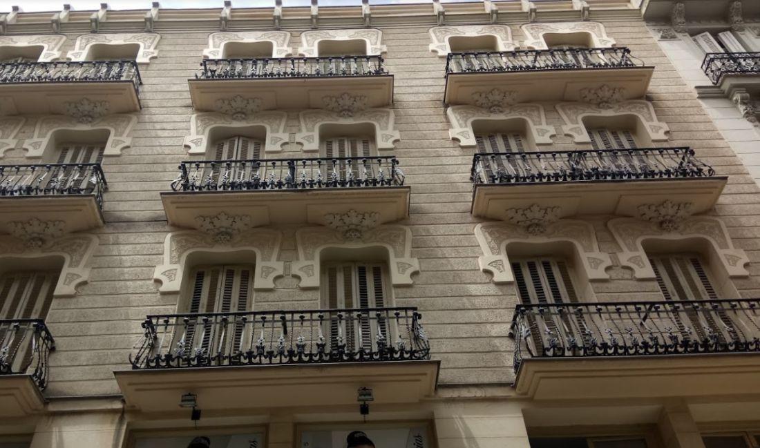 Fachada trasera de la Casa Ruiz de Velasco (calle Postas, 4)