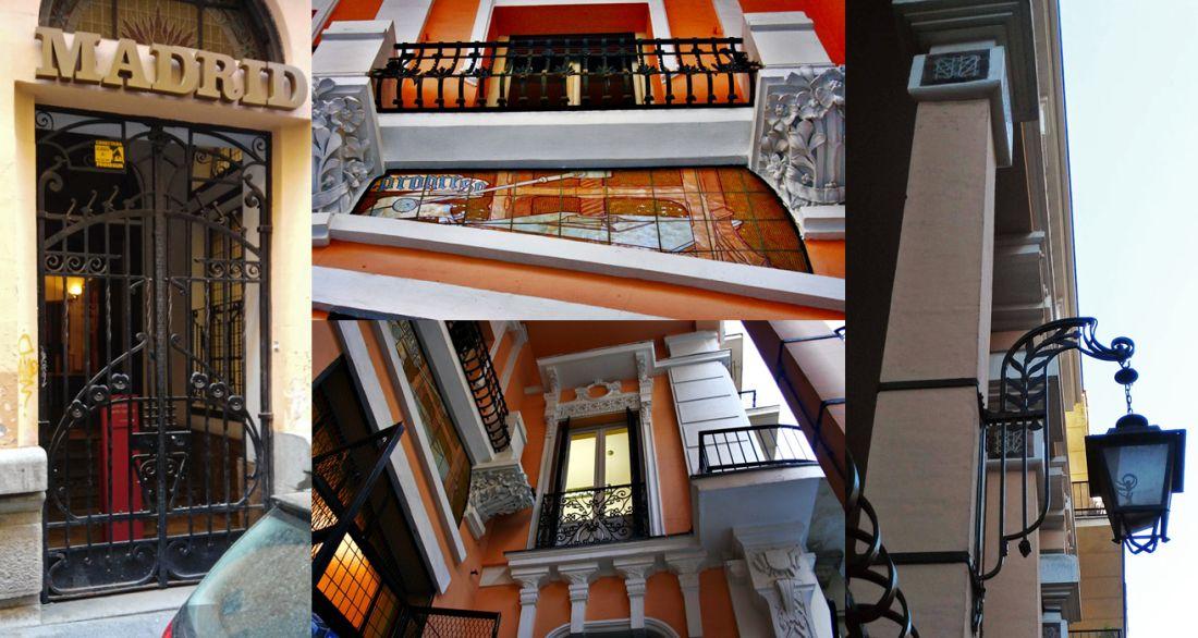 Ornamentos, rejerías y cerámica Art Nouveau en el antiguo Semanario Nuevo Mundo