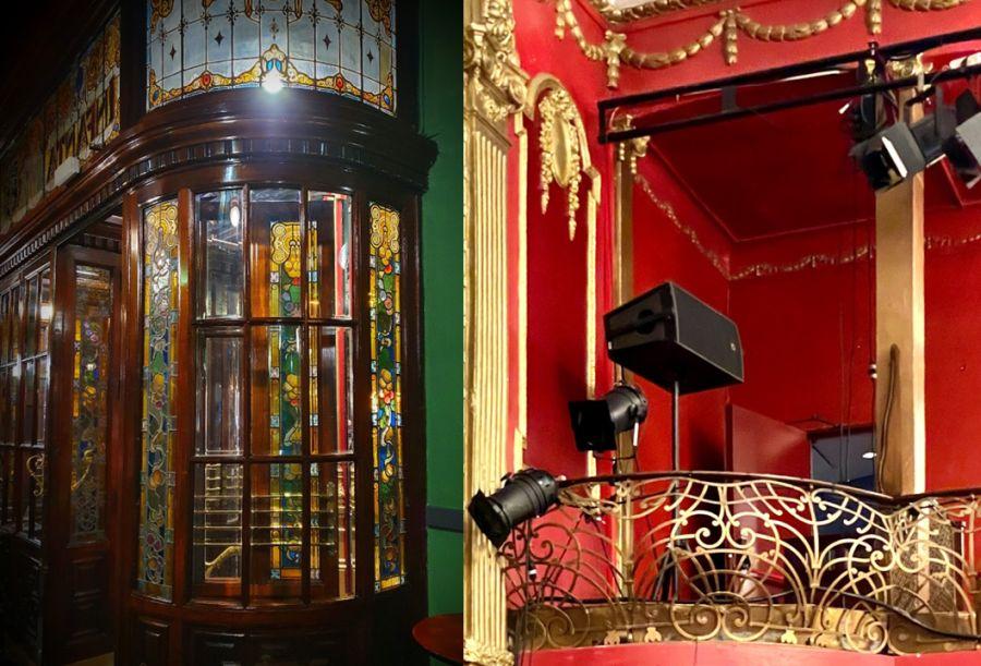 Vidrieras y forjas modernistas del Teatro Infanta Isabel
