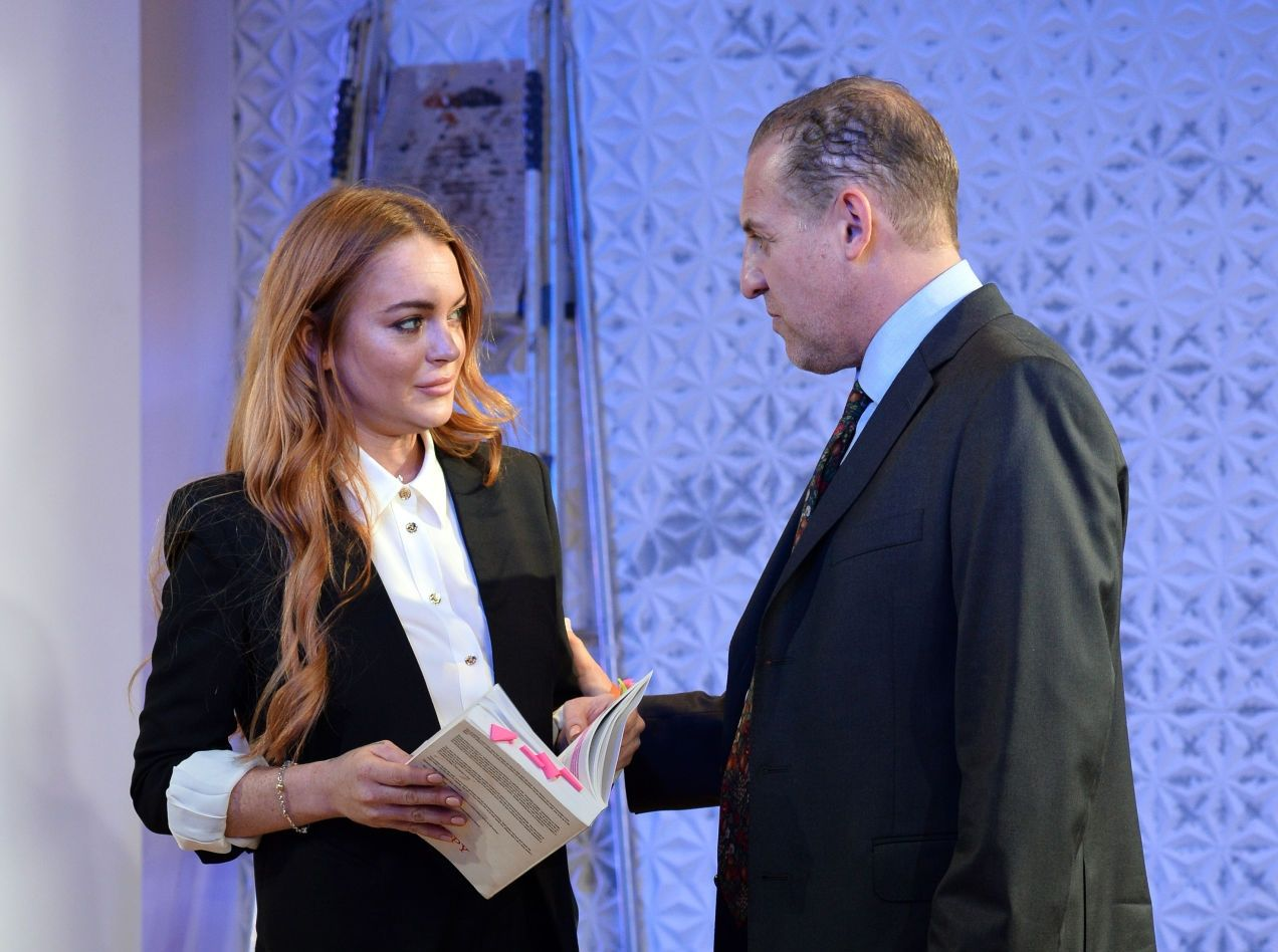 Lindsay Lohan en Speed the Plow
