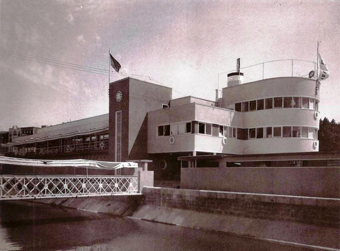 Club Náutico en el río Manzanares Madrid Art Decó racionalista