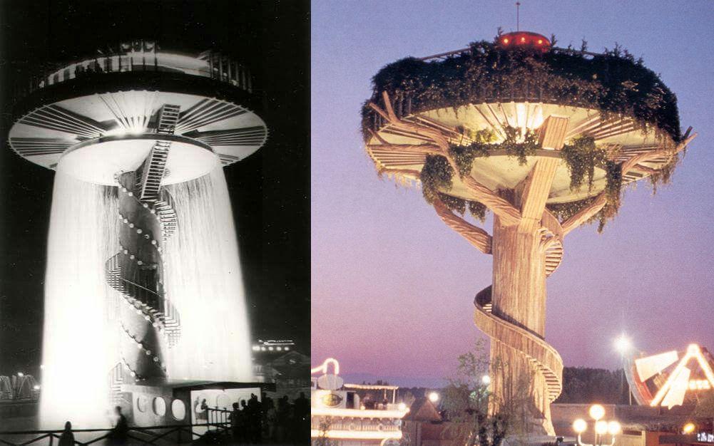 Edificios desaparecidos de Madrid Platillo Volante Parque de Atracciones