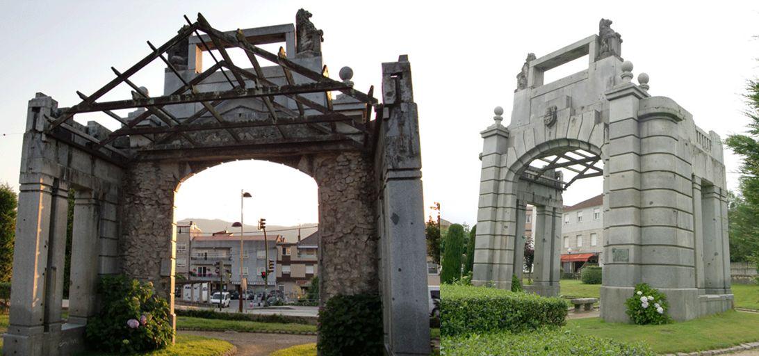 Edificios desaparecidos de Madrid Templete Red San Luis en O Porriño