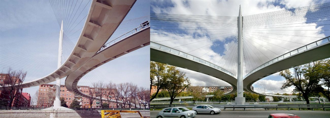 Puentes o edificios desaparecidos de Madrid la pasarela Manterola