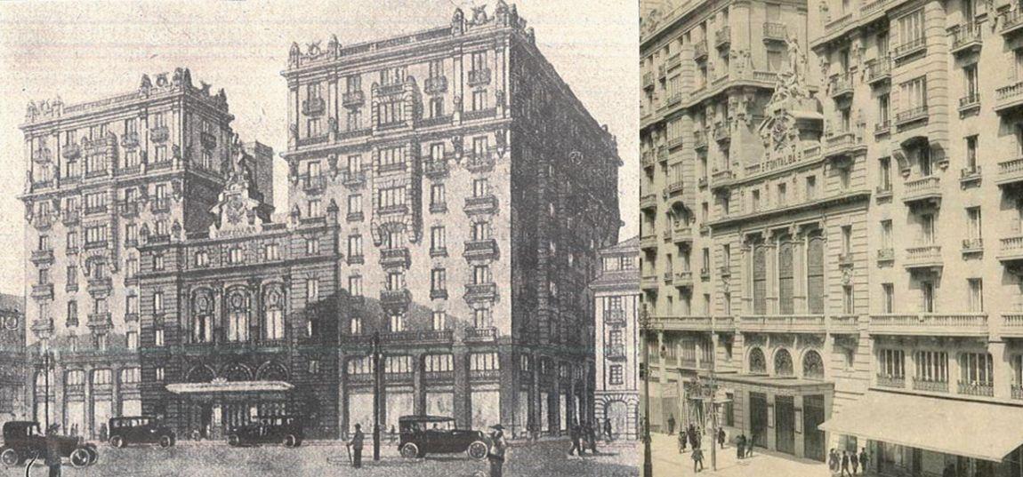 Variante mutilada de edificios desaparecidos de Madrid el Teatro Fontalba