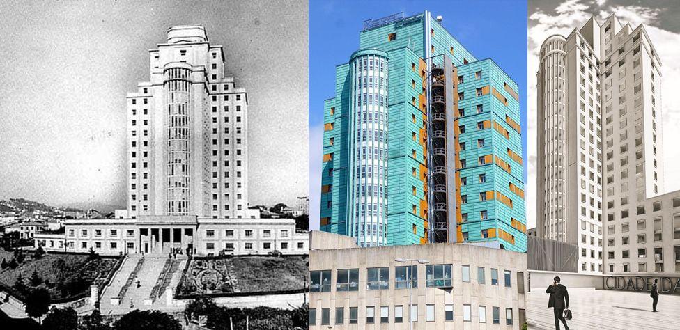 Antiguo Hospital Xeral, entre los primeros rascacielos de España