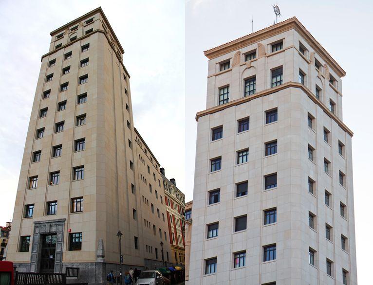 Primeros rascacielos españoles en Bilbao
