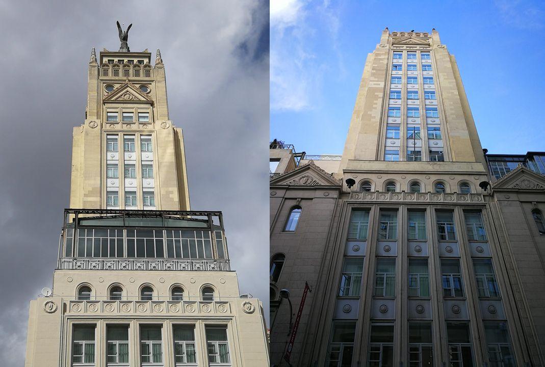 Rascacielos Art Decó en Madrid
