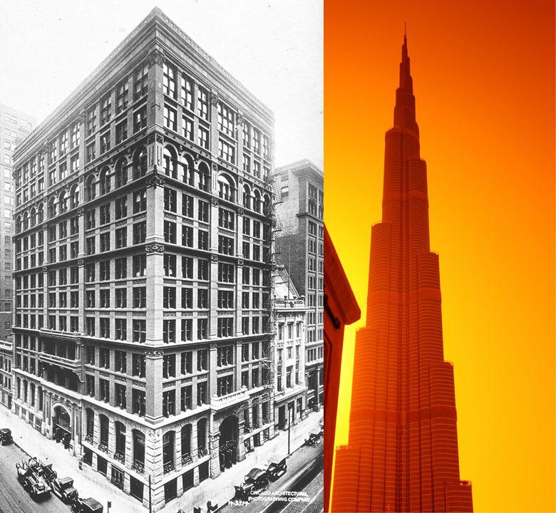 Rascacielos españoles y rascacielos del mundo