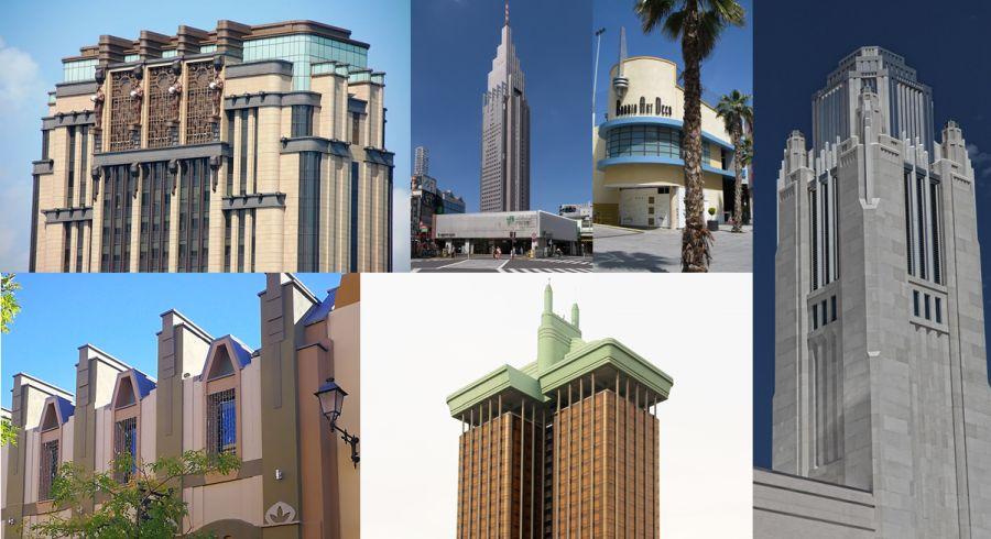 Edificios de arquitectura Art Decó Neo Art Decó