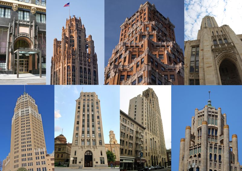 Gótico y arquitectura Art Decó