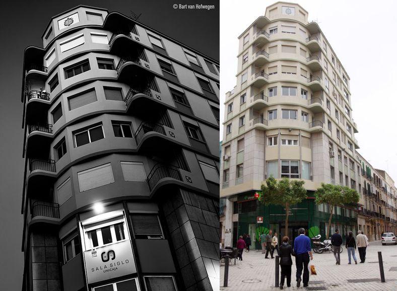 Balcones aerodinámicos del Art Decó en Málaga