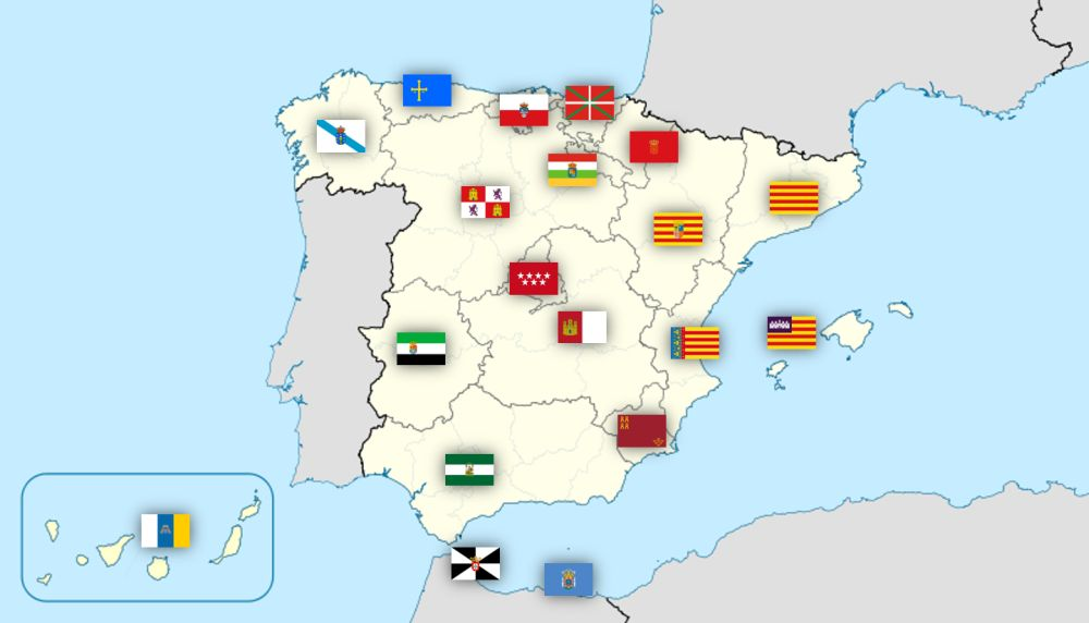 Origen de las Comunidades Autónomas mapa final