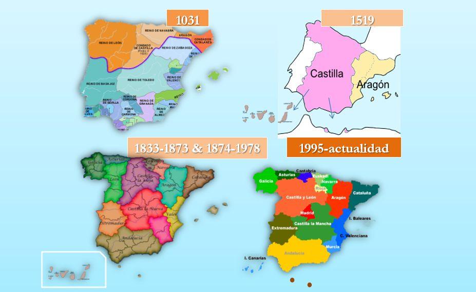 Origen de las Comunidades Autónomas Mapa de España