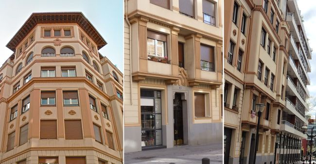 Bilbao Art Decó montañés en las calles Huertas de la Villa y Epalza