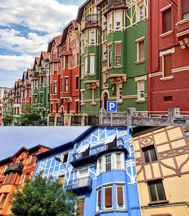 Calles del barrio Iralabarri en Bilbao