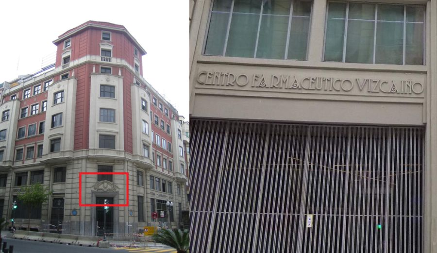 Centro Farmacéutico Vizcaíno (actual sede de Oficinas de Naturgas Energía. General Concha, 20)