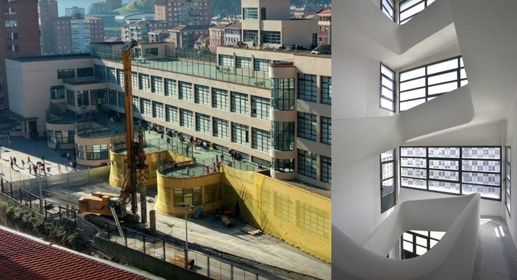 Complejo Escolar Luis Briñas del Bilbao Streamline Moderne
