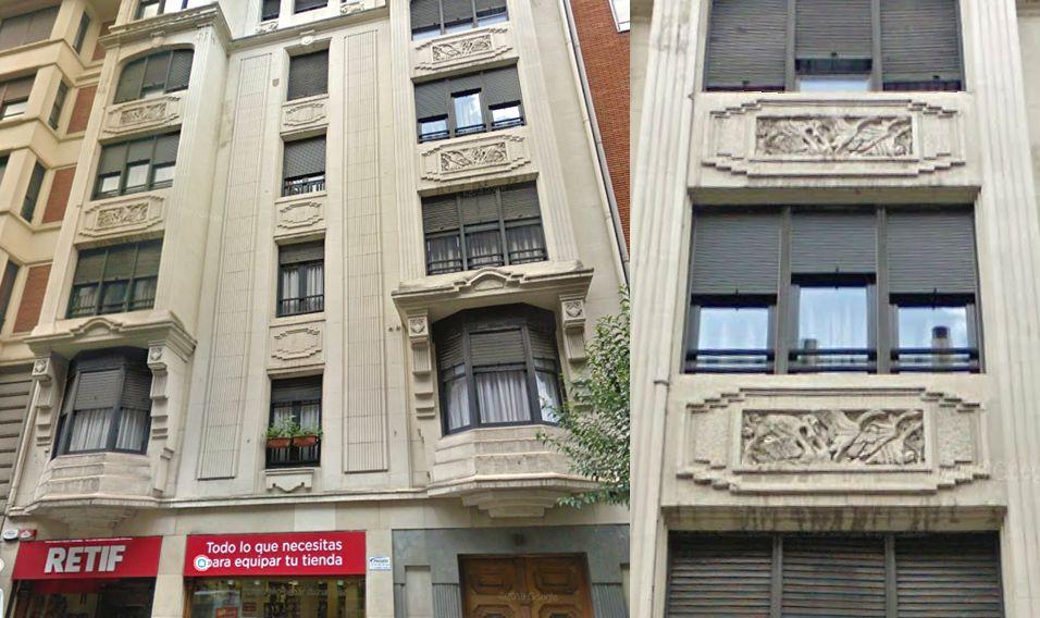 Máximo Aguirre 10, joya Zigzag Moderne del Bilbao Art Decó