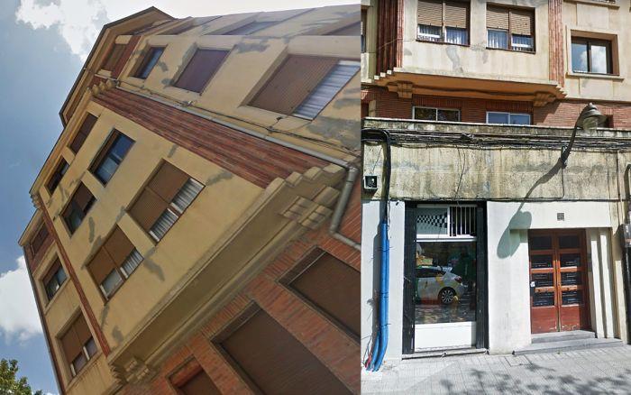 Reminiscencias Zigzag Moderne en avenida Ramón y Cajal de Bilbao