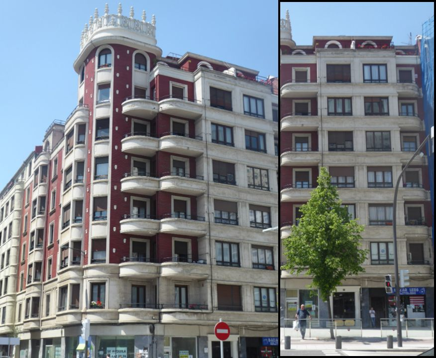 Sabino Arana 32, monumental edificio del Bilbao Art Decó