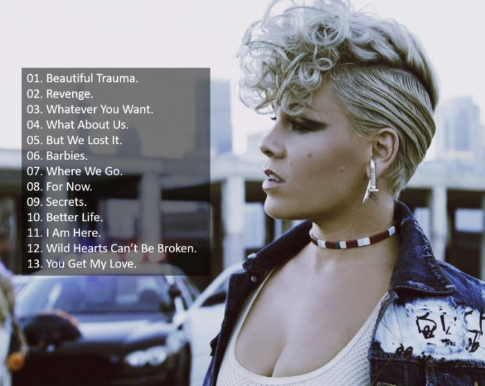 Beautiful Trauma Pink Tracklist