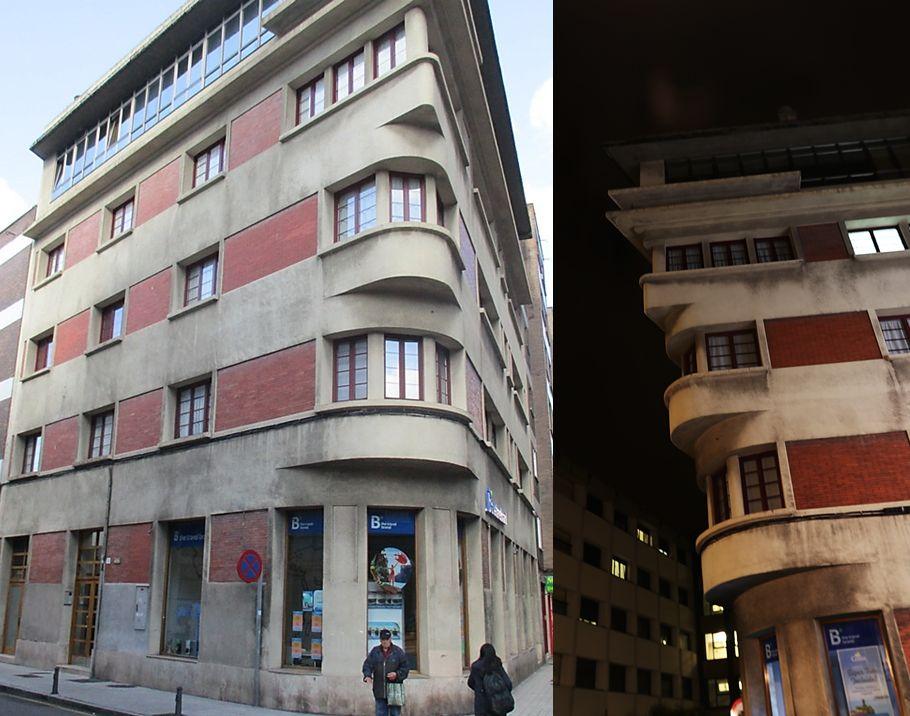 Casa Vallina en calle Luciano Castañón 14 del Gijón Art Decó