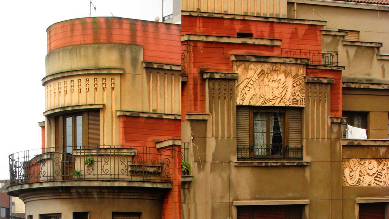 Ornamentación en la arquitectura del Gijón Art Decó