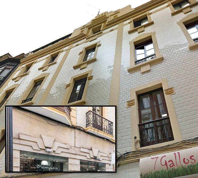 Art Decó de Gijón en calle de la Merced 30, año 1925