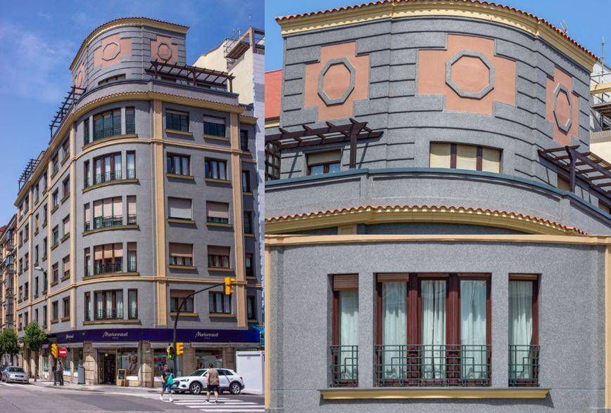 Avenida Manuel Llaneza 4 es arquitectura de la Autarquía en Gijón