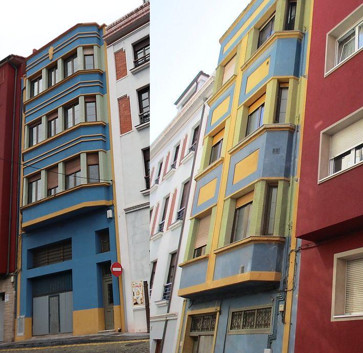 Calle Gregorio García Jove 22 y calle Ave María 23 es Art Decó de Gijón
