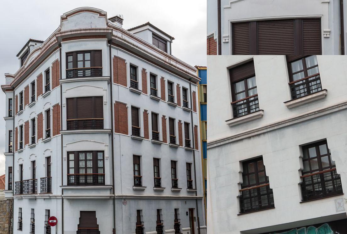 Esquina Camín de la Fontica con Santa Cándida 24 es Art Decó de Gijón